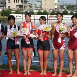 全日本選手権大会 女子ダブルスカル (2人漕ぎ)3位 S加藤笑B木野田沙帆子