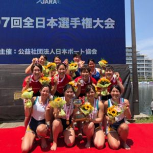全日本選手権 W4× 表彰式